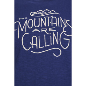 United By Blue Mountains Are Calling Camiseta Manga Corta Hombre, midnight